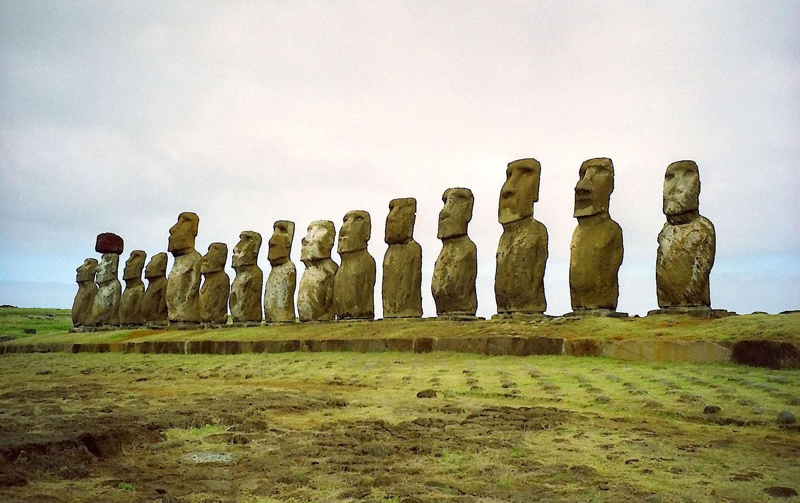 Ahu Tongariki på Påskeøen