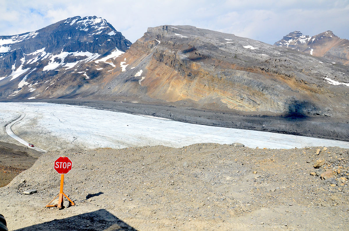Atchabasca Gletsjeren i Canada