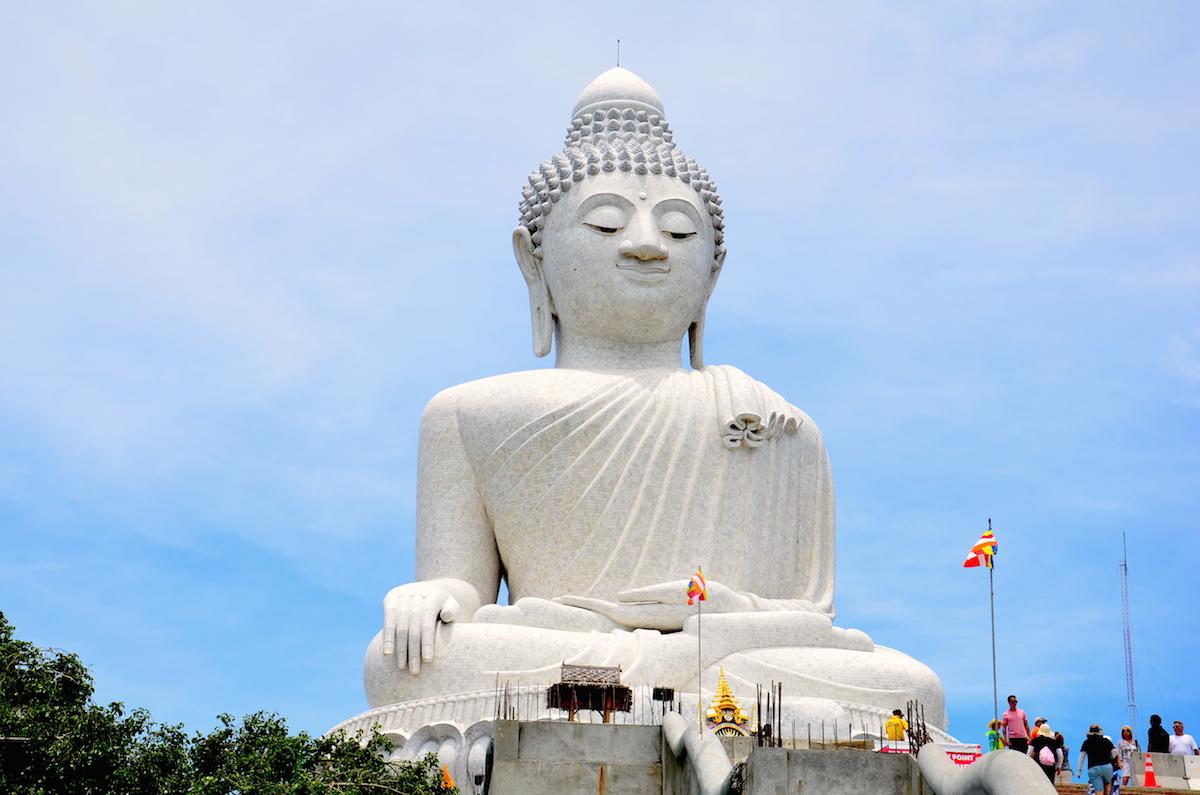 Den store Buddha-statue på ferieøen Phuket i Thailand.