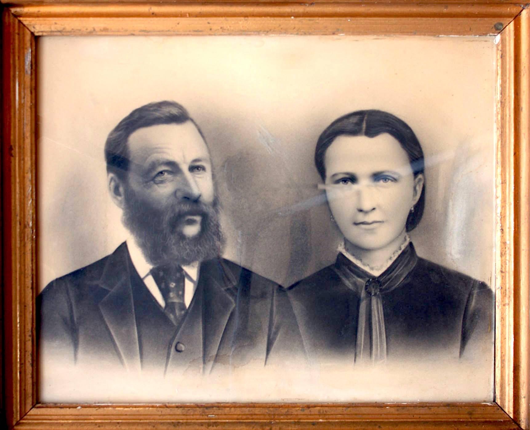 Friðrika og hendes mand Pétur