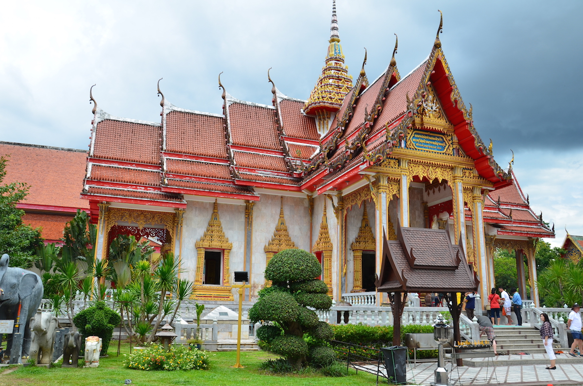 Wat Chalong-templet på øen Phuket.