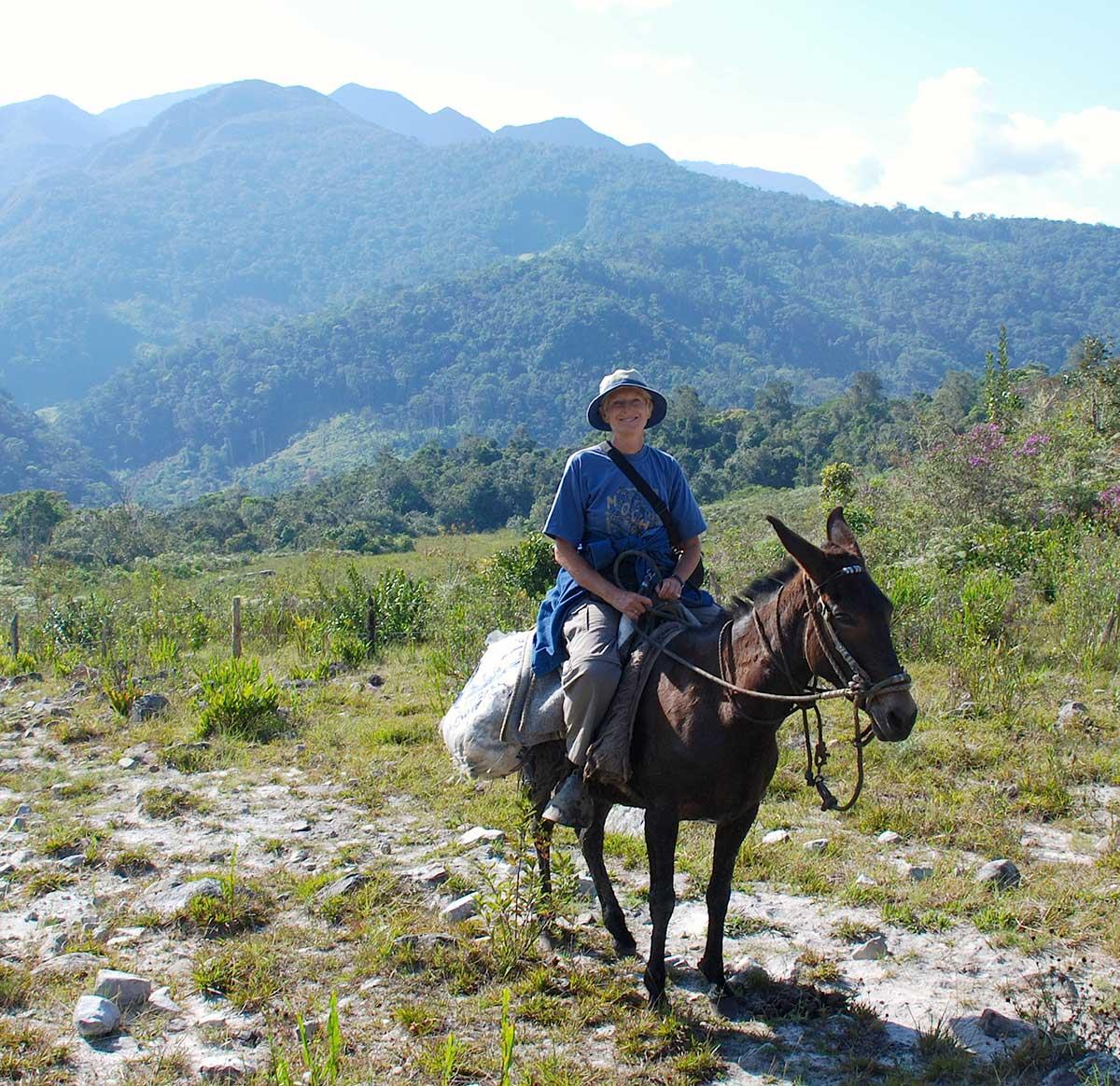 Inge Schjellerup på ekspedition i de uvejsomme bjergegne i det nordøstlige Peru.
