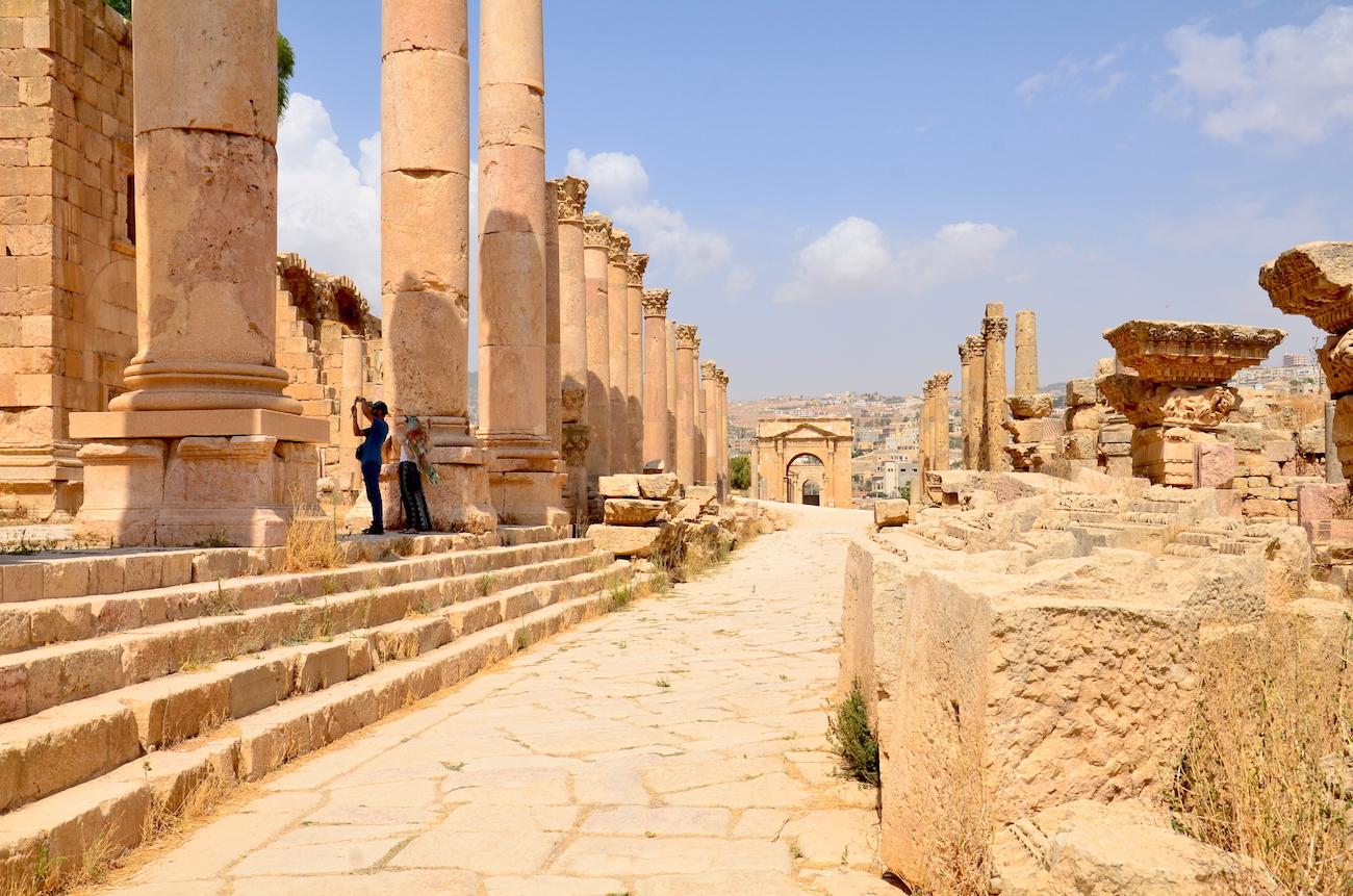 Jerash ruinen i Jordan