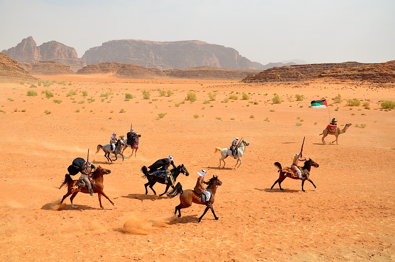 Frilufts-forestiiling med Laurence of Arabia