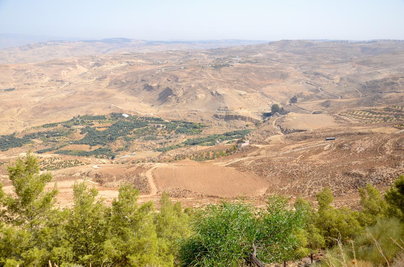 Den smukke natur i Jordan