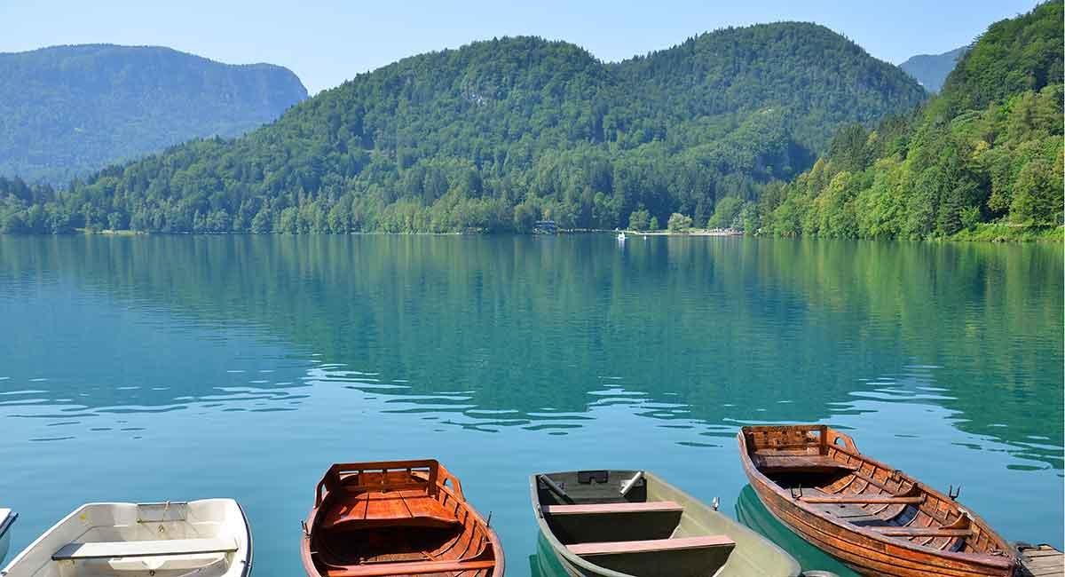 En gåtur rundt om søen i Bled kan klares på to til tre timer og er en hyggelig og afslappende oplevelse. Man går på vandrestier gennem skoven langs bredden af søen og har senere på turen en flot udsigt til bjergene. Hele turen er seks kilometer, og man kan holde en pause for enden af søen og spise en is, hvis man har lyst til det.