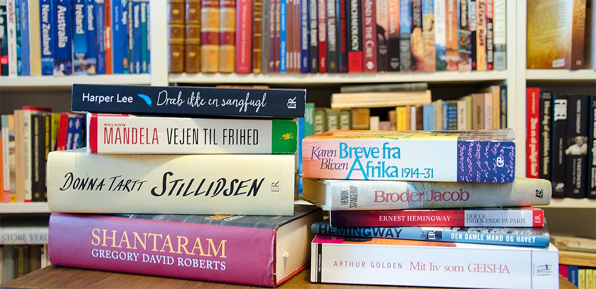 Boger i mit eget bibliotek