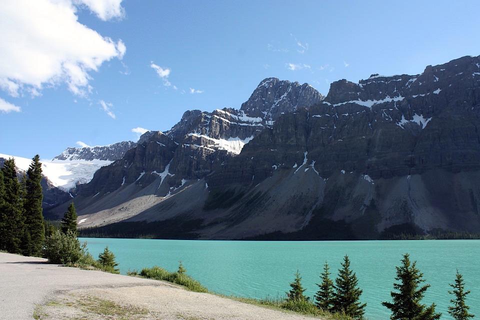 Bow Lake i Canada.