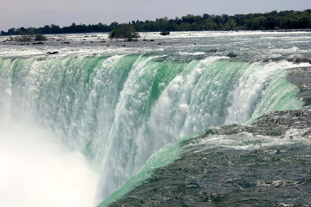 Niagara Falls i Canadaog USA.