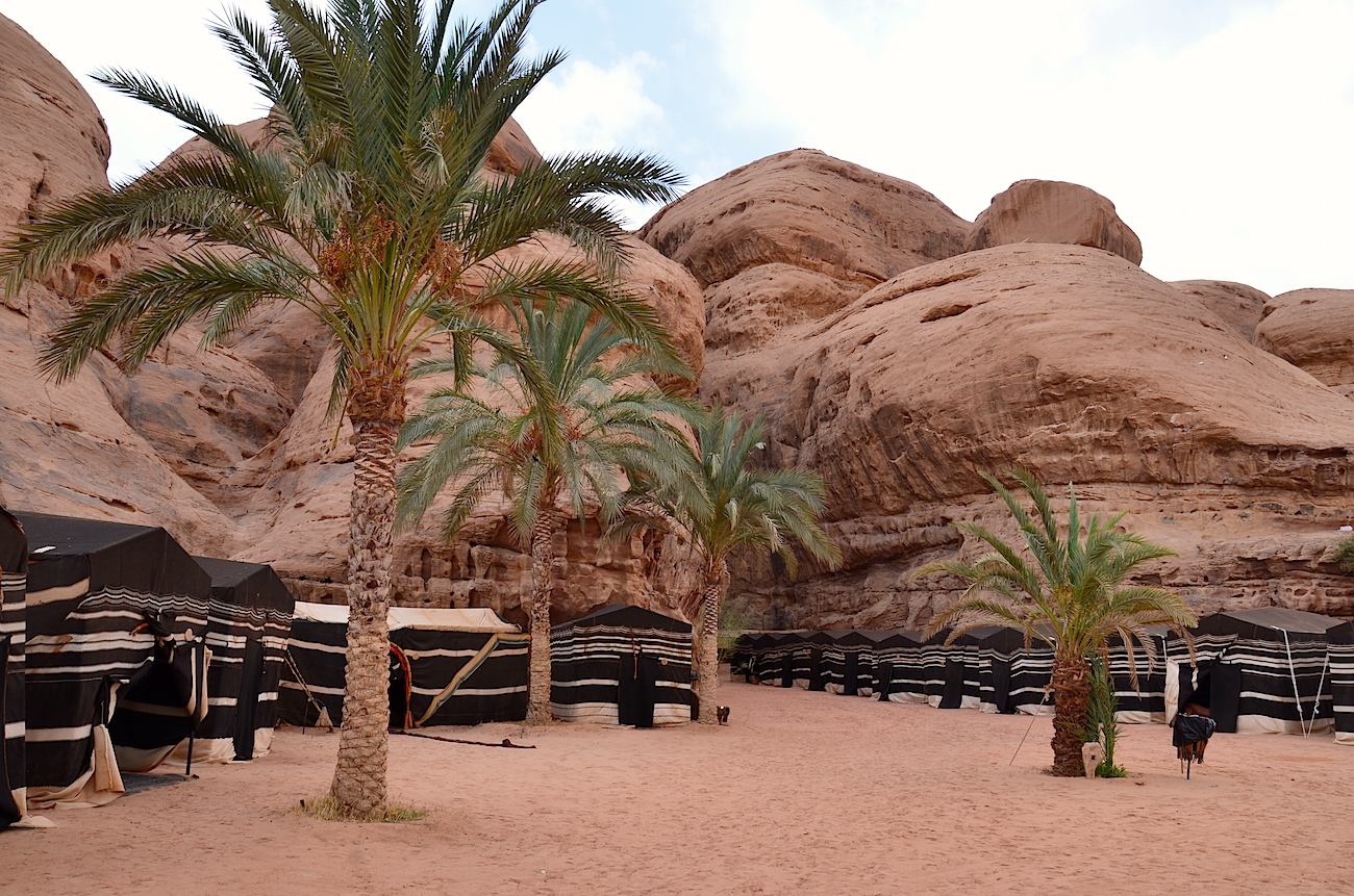 Beduinlejr i ørkenen ved Wadi Rum