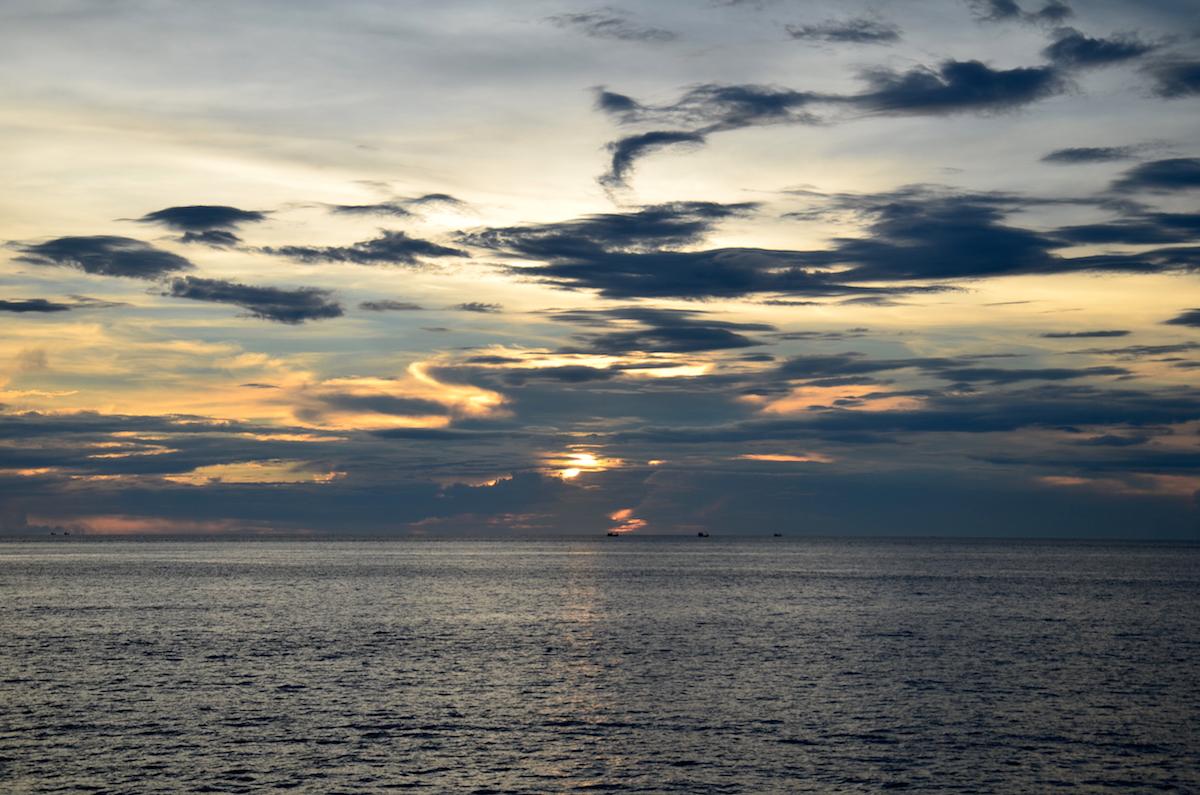 Dramatisk solnedgang