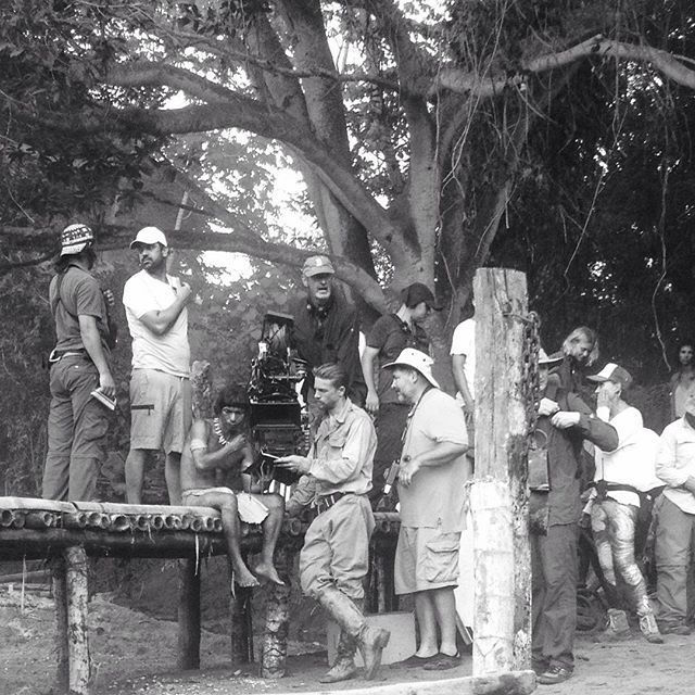Filmholdet på optagelse til Lost City of Z i Columbia