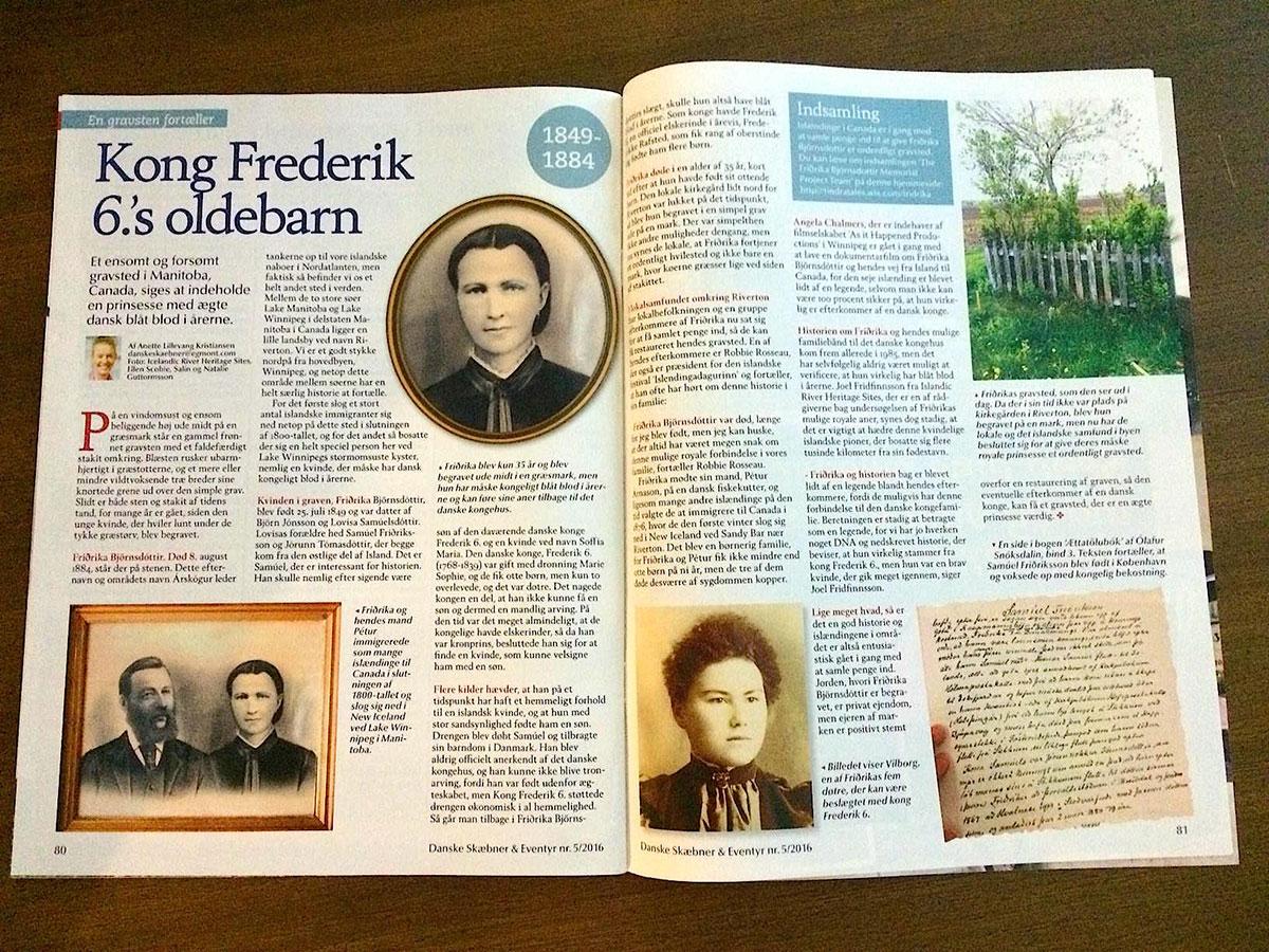 Artikel om Kong Frederik 6.'s oldebarn.