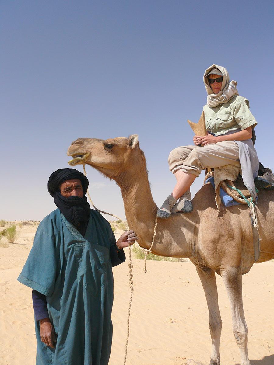 Kameltur omkring Timbuktu i Mali
