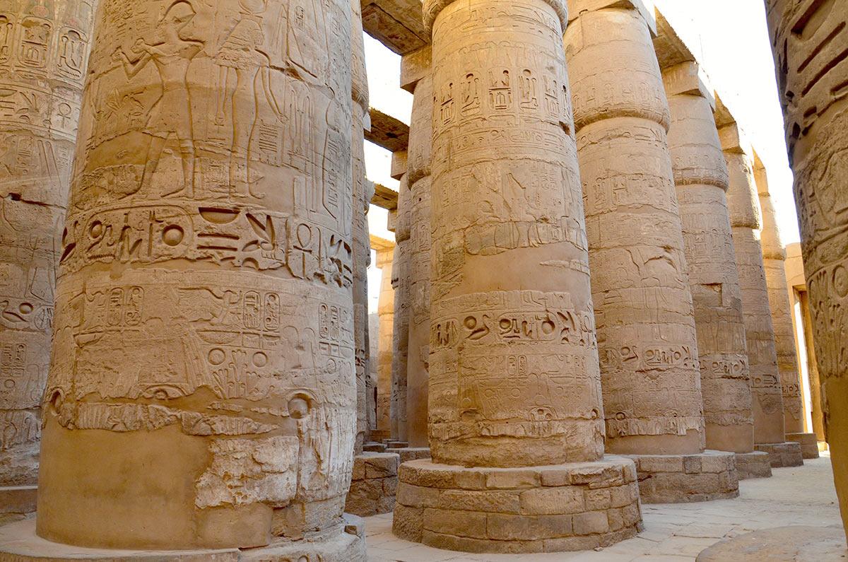 Karnak templet Luxor Egypten