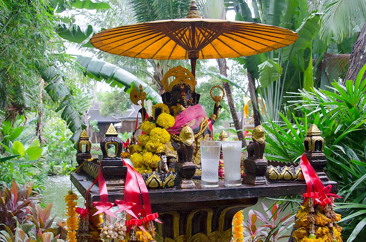 Lille buddhistisk tempel, Phuket, Thailand