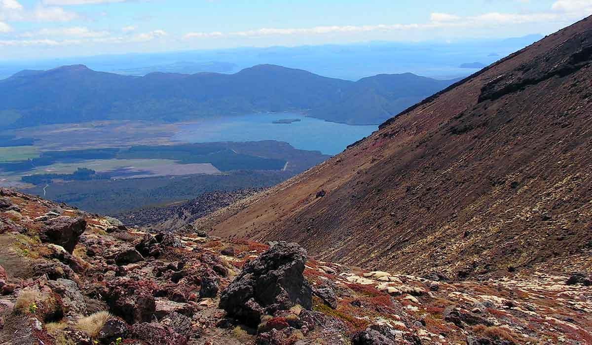 New Zealand, Tongariro Nationalpark, Tongariro Crossing, Trekking