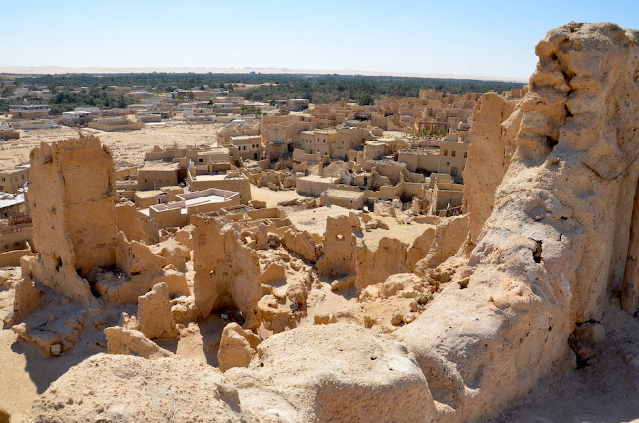 Det her billede er taget fra toppen af byens fort Shali. Stort set hele den gamle bydel er opført i adobesten, så det giver stedet et meget rustikt præg. Foto: Anette Lillevang Kristiansen