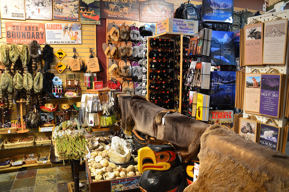 Souvenirforretning i Banff by
