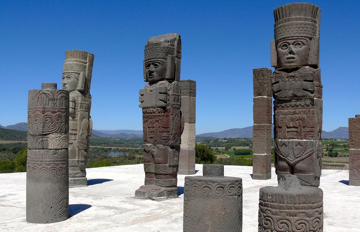 Toltekerruinen Tula i Mexico