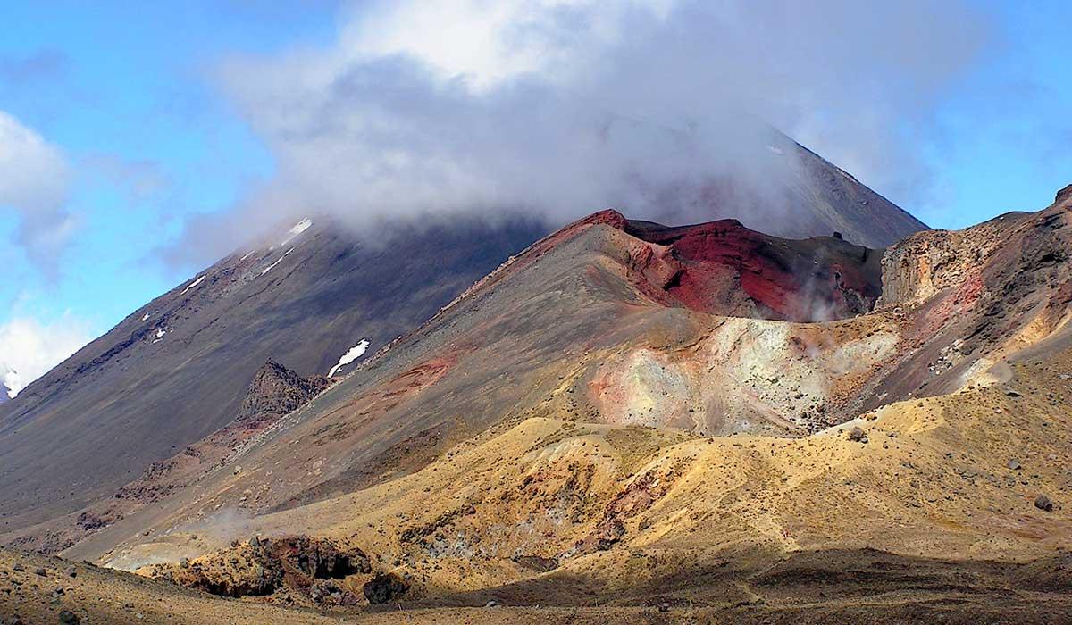 New Zealand - Tongariro Nationalpark med de mange farver.